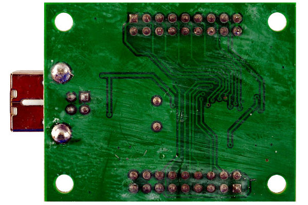 PCB before cleaning